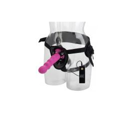 10 Function Silicone Love Rider Thruster Harness Pink